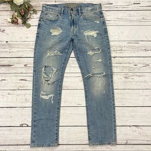 American eagle outfitters distressed ripped jeans
